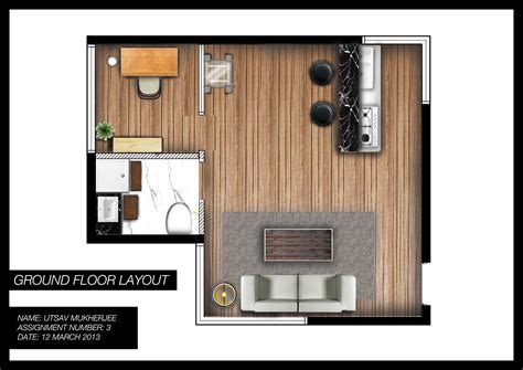 open floor plan studio apartment utsav mukherjee designs studio apartment floor plan render