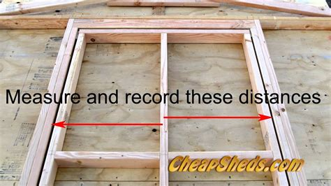 make window how to build a shed door youtube