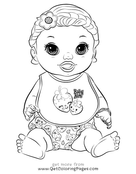 baby alive food packets coloring page coloring pages