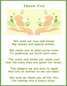 Baby Shower Thank You Poems From And by Thank You Poem From Baby Boy Baby Poem And