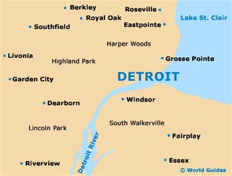 map of usa detroit detroit maps and orientation detroit michigan mi usa