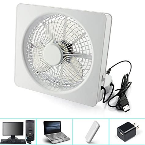 battery powered box fan welltop 6 inch portable fan usb or aa battery powered
