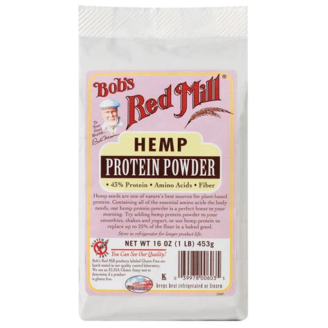 h b protein powder bob s mill hemp protein powder 16 oz 453 g iherb