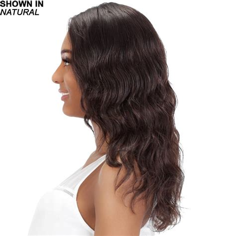 wavy hair longer in front lace front wig with long wavy layers in luxurious remy
