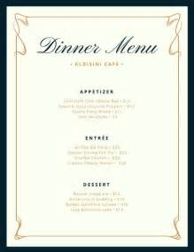 Fancy Dinner Menu Template by Menu Templates Canva
