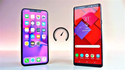 iphone xs max  samsung galaxy note  speed test youtube
