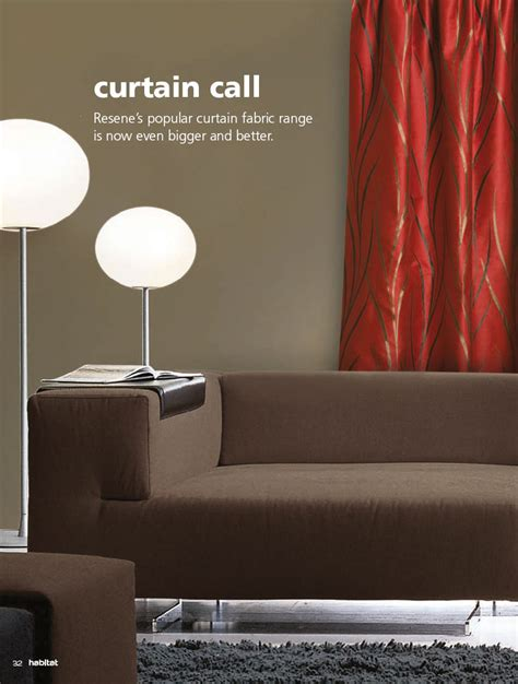 curtain call magazine resene curtain collection habitat magazine published by