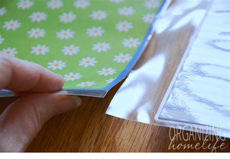 How To Make A Pocket Out Of Paper - how to make cabinet door pockets to organize bills and
