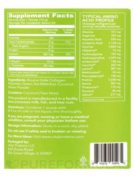 Collagen Original matcha collagen original 11 9 oz 336 grams