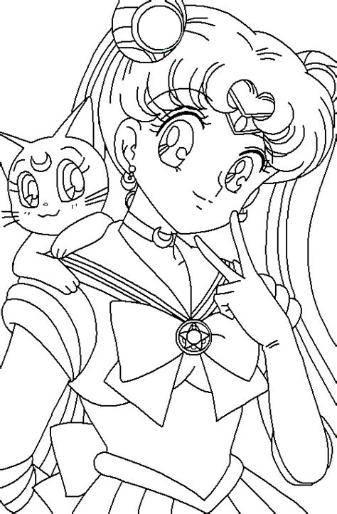 Luna Lovegood Coloring Pages Sailor Moon Princess Serenity Coloring Pages Free Coloring Sheets