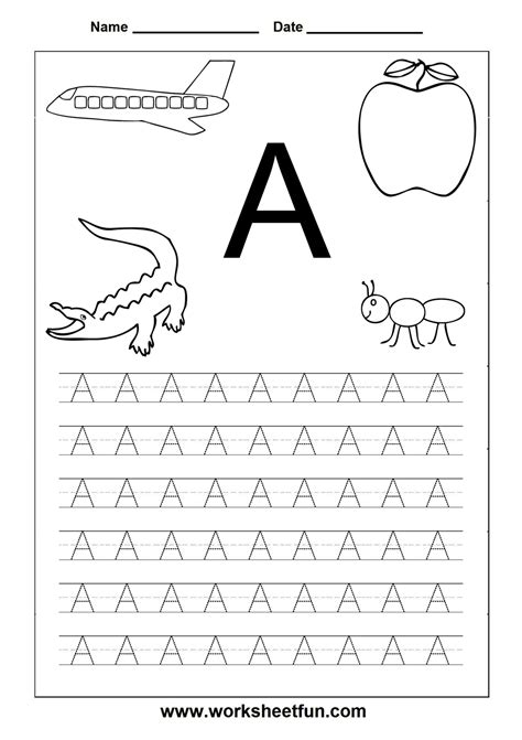 printable worksheets for kindergarten alphabet letter worksheets for kindergarten printable letters