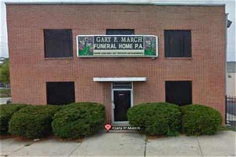 gary march funeral home baltimore maryland md