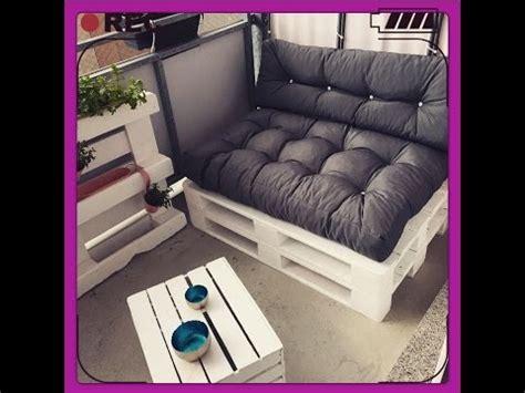 diy sofa paletten sofa balkon moebel selber bauen youtube