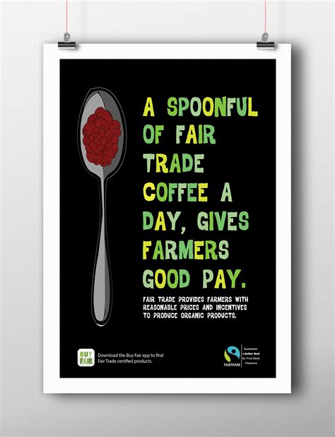 design poster buy buy fair trade caign on behance