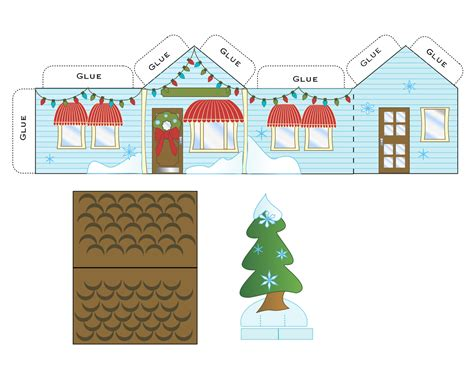 paper house templates to print free printable paper house paper houses