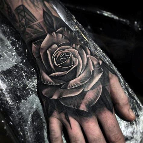 grey shaded rose tattoo 50 3d designs for masculine ink ideas