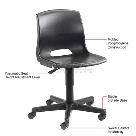 Office Contour Plastic Task Chair W Arm Wine by Plastic Office Chair Black