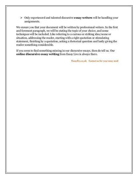 Writing Discursive Essays by What Is Discursive Essay Writing