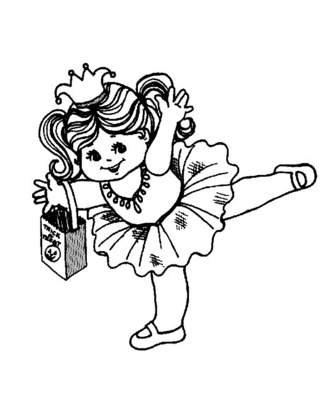 halloween costume coloring page princess costume free