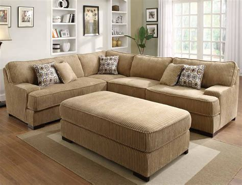 Sectional Sofa With Oversized Ottoman Corduroy Sectional Sleeper Section No Chaise Allows For Adjustment In Room Oversized