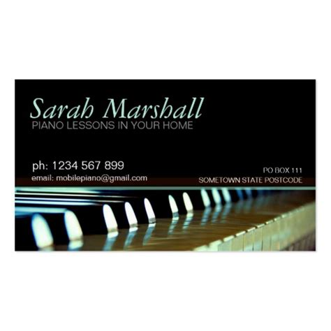 Piano Business Card Template by Piano Keyboards Business Card Zazzle