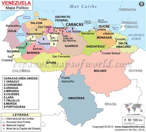imagenes de venezuela en el mapa mapa politico de venezuela estados de venezuela