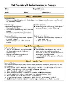 design thinking lesson plan template 1000 images about understanding by design on pinterest