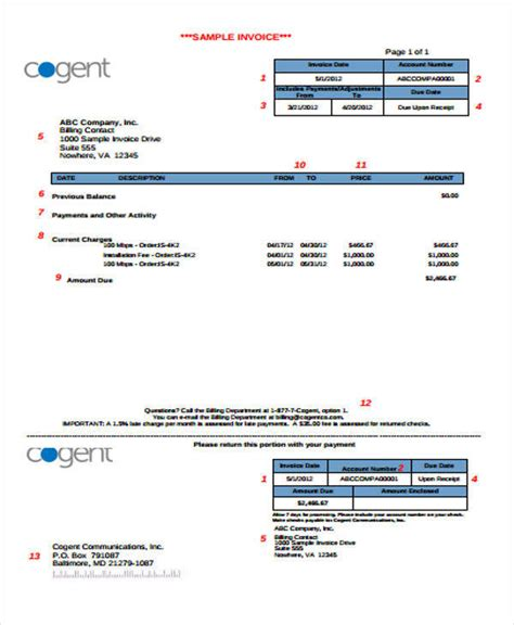 5 sle payment due upon receipts sle templates