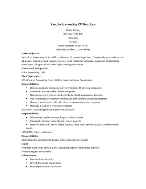 boost career accountant resume template best 25 accountant cv ideas on resume resume