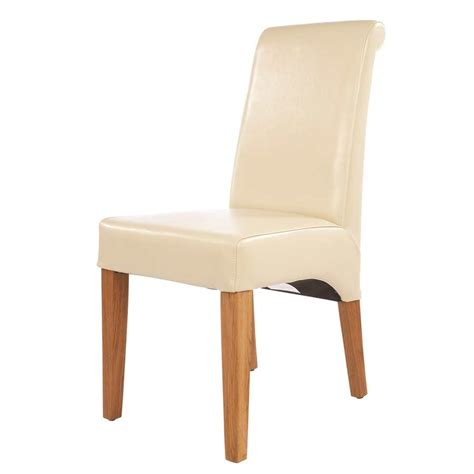 Cream Leather Dining Chair Dining Chairs
