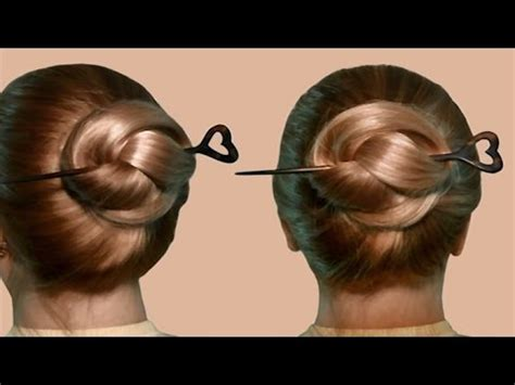 how to create hair stick hairstyles tips to jazz up hairst hairstyle with hair stick by yourself tutorial youtube