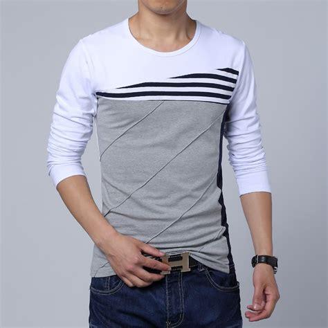 Fashion Mens T Shirt mens t shirts fashion 2015 fall new spell color neck