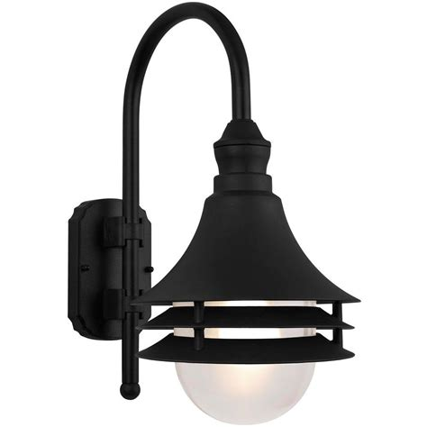 Outdoor Coastal Lighting Newport Coastal Black Outdoor Batten Nautical Exterior Light 7972 18b The Home Depot