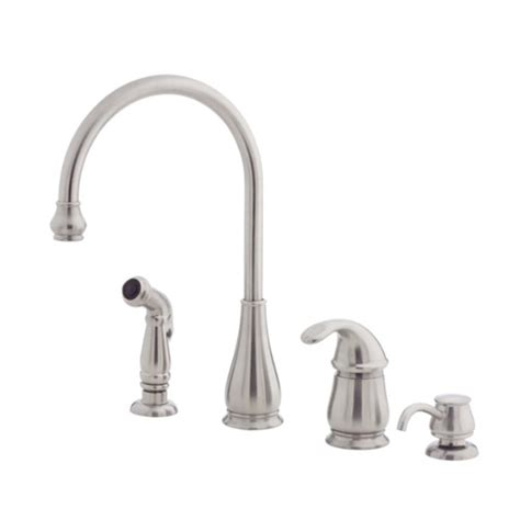 kitchen faucet with sprayer and soap dispenser pfister lg26 4dss treviso single handle kitchen faucet with side spray and soap dispenser