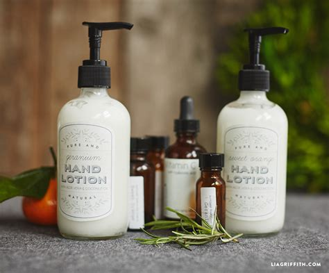 Handmade Lotions - lotion with printable labels lia griffith