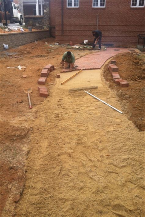 Installing Patio Pavers On Sand Brick Concrete Pavers Outdoor Contracting