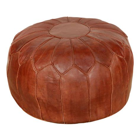 leather moroccan ottoman moroccan large leather pouf at 1stdibs