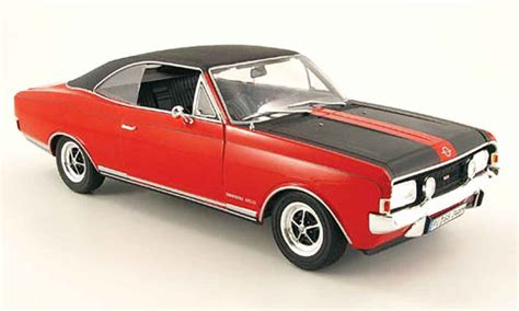 1970 opel commodore opel commodore a coupe gs e red black 1970 revell diecast