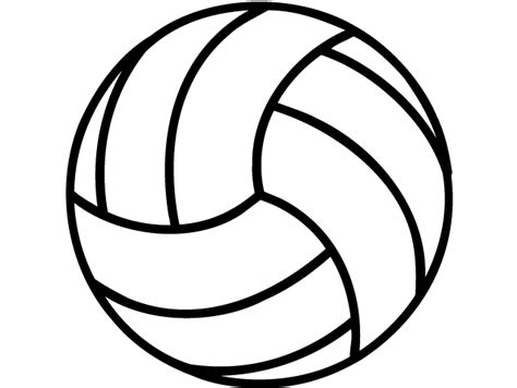 cool volleyball drawings sketch coloring page