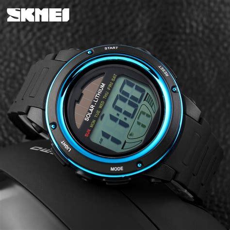 Jam Tangan Skmei 1096 Jam Tangan Solar Power Digital Black Blue skmei jam tangan tenaga solar pria dg1096 black blue