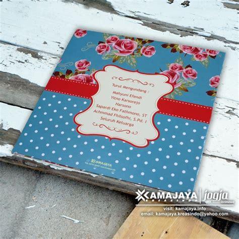 Polkadot Undangan undangan pernikahan vintage biru polkadot eky agung