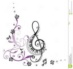 Keyboard Flower Symbol - clef music royalty free stock images image 36087089