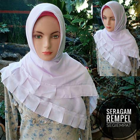 Kerudung Jilbab Bergo Rempel Jumbo 0 segi empat seragam rempel sentral grosir jilbab