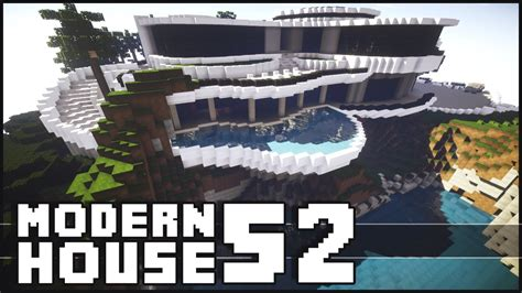 Beach House Blueprints by Minecraft Epic Modern House 52 With Shark Tank Youtube