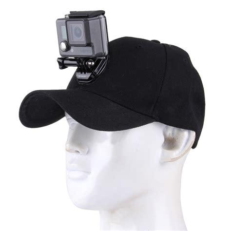 Topi Go Baseball Pokemongo outdoor sun hat topi baseball cap with stand holder mount for gopro sjcam xiaomi