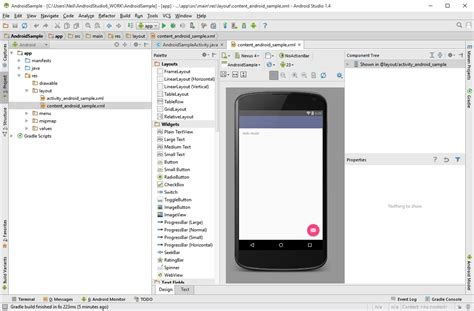 android studio urlconnection tutorial creating an exle android 6 app in android studio