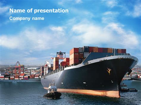 powerpoint themes ships sea shipping presentation template for powerpoint and