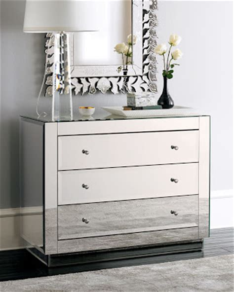 Horchow Mirrored Dresser by Copy Cat Chic Horchow Mirrored Chest