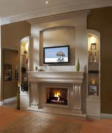 fireplace mantel designs with tv