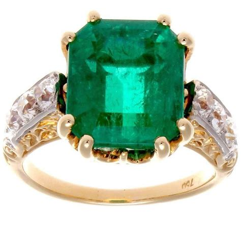 5 carat emerald gold ring for sale at